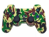 Controle Joystick Camuflado Wireless Batéria Bluetooth Ps3 Feir-  fr205wt