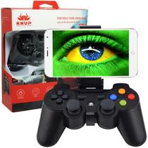 Controle Joystick Celular Bluetooth Manete Android Iphone Ios Tablet Ipad Pc Gamepad Knup KP-4039