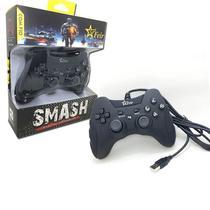 Controle Joystick Com Fio Usb 2 em 1 Para Pc e Playstation 3 Play 3 Ps3 FEIR FR-218A PRETO -
