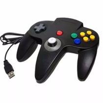 Controle Joystick Nintendo 64 Usb /Pc  Cinza Escuro - Playgame
