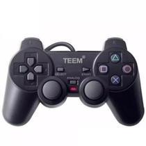 Controle Joystick Play Ps1 E Ps2 C/ Vibração Teem -