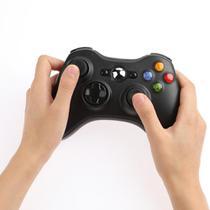 Controle joystick sem fio para console Xbox 360 black. - Dex