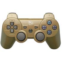 Controle Joystick sem Fio PS3 Dourado - Playgame