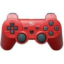 Controle Joystick sem Fio PS3 Vermelho - Playgame