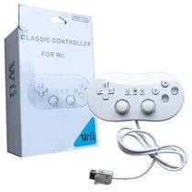 Controle Joystick Wii Classic Para Nintendo Wii WiiU FEIR FR-003 BRANCO -