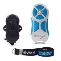 Controle Longa Distância JFA K600 com Central - Branco/Azul -