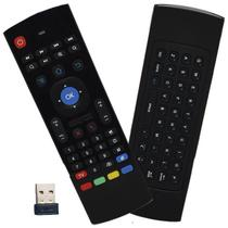 Controle Mini Teclado Air Mouse Wireless Sem Fio Android Pc Tv MX-3A 2,4 Ghz Preto - S/M
