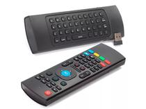 Controle Mini Teclado Air Mouse Wireless Sem Fio Android Pc Tv MX3 MX-3A Preto - Mcrio