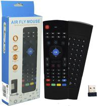 Controle Mini Teclado Air Mouse Wireless Sem Fio Android Pc Tv MX3 MX-3A Preto
