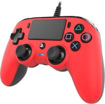 Controle Nacon Wired Compact Controller Red (Com fio, Vermelho) - PS4 e PC - Sony