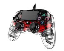 Controle Nacon Wired Illuminated Compact Controller Red (Com fio, Iluminado, Vermelho) - PS4 e PC - Sony