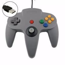 Controle  Nintendo 64 Retrô Joystick Usb Pc Notebook - Cmik