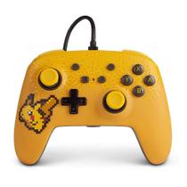 Controle Nintendo Switch Pokémon Pixel Pikachu - PowerA Com Fio -