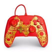Controle Nintendo Switch Super Mario Golden M - PowerA Com Fio -