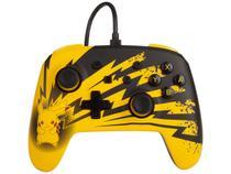 Controle para Nintendo Switch com Fio - Pikachu Lightining Power A Amarelo e Preto