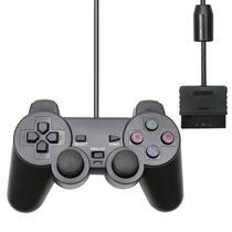 Controle Para Play2 Dualshock Com Fio E Analógico - Inova