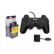 Controle Para Playstation 2 Ps2 Preto Ns-2121 Knup - Global