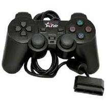 Controle para PS2 Botoes Macios e Precisos Preto Feir Feir -