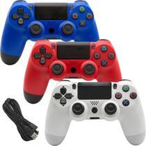 Controle Para Vídeo Game Compatível PS 4 Com Fio DOUBLESHOCK CORES SORTIDAS - Lx Shop