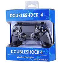 Controle Para Vídeo Game Compatível PS 4 Sem Fio Preto - Lx Shop