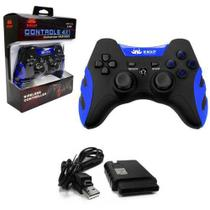 Controle para video game sem fio 4 Em 1 Pc Ps1 Ps2 Ps3 Knup Kp-4032