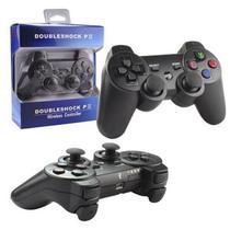 Controle Para Vídeo Game Sem Fio Compatível PS 3 Preto DOUBLESHOCK - Lxshop