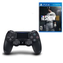 Controle Playstation 4 Dualshock 4 Preto + MLB The Show 18 - PS4 - Sony