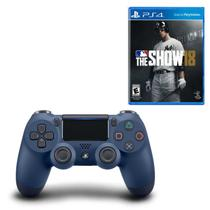Controle Playstation Dualshock 4 Azul + MLB The Show 18 - Sony