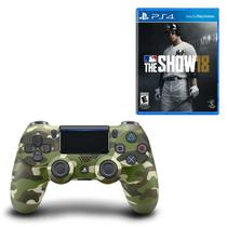 Controle Playstation Dualshock 4 Verde Camuflado + MLB The Show 18 - Sony