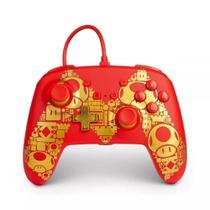Controle Power A Com Fio Mario Gold para Nintendo Switch -