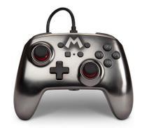 Controle PowerA Com Fio Mario Prata Metálico para Nintendo Switch - Power A