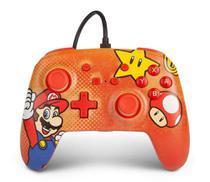 Controle PowerA Enhanced Com Fio Mario Vintage para Nintendo Switch - Power A