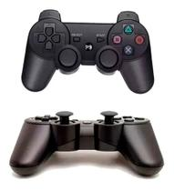 Controle PS3 Vídeo Game Sem Fio Compatível Preto DOUBLESHOCK - Lx Shop