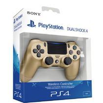 Controle PS4 Dourado Gold DualShock 4 Sem Fio PlayStation 4 - Ybx