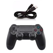 Controle ps4 playstation 4 com fio video game pc usb original knup -