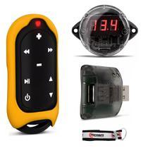 Controle Remoto de Longa Distância Taramps Connect USB Amarelo + Mini Voltímetro -