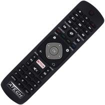 Controle Remoto TV LED Philips YKF406-001 / 32PFH5501 / 40PFH5501 / 49PFH5501 / 55PUS6401 com Netflix (Smart TV) - Atech
