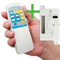 Controle Remoto Universal Wireless P/ Ventilador De Teto - Completo - Pw