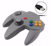 Controle Retro Usb Nintendo N64 Cinza Para Pc Mac Linux - Nintendo 64