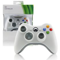 Controle Sem Fio Para Xbox 360 Joystick Wireless Branco - Techbrasil