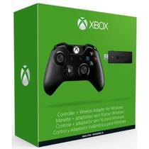 Controle Sem Fio (Preto) + Adaptador USB Para Pc - Xbox One - Microsoft