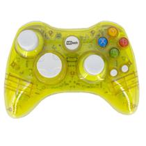 Controle Sem Fio Transparente À Pilha Paral Xbox 360 Amarelo - Royal