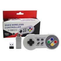 Controle Sem Fio Turbo Classic Mini Compatível Com Nintendo Nes Snesi PC - Techbrasil