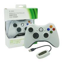 Controle Sem Fio Xbox 360 Para Computador Notebook Playstation 3 + Receiver Branco - TechBrasil