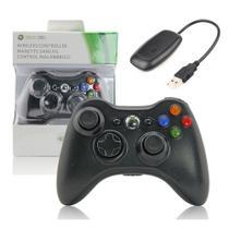 Controle Sem Fio Xbox 360 Para Computador Notebook Playstation 3 + Receiver Preto - TechBrasil