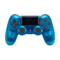 Controle Sony Dualshock 4 Crystal Blue sem fio (Com led frontal) - PS4 -
