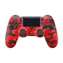 Controle Sony Dualshock 4 Red Camouflage sem fio (Com led frontal) - PS4 -