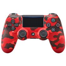 Controle Sony Dualshock 4 Red Camouflage Sem Fio PS4 -
