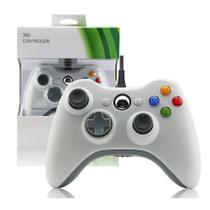 Controle Usb Com Fio Compatível Com Xbox 360 Computador Notebook Branco - Techbrasil