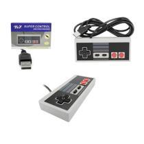 Controle USB Super Nintendo Retrô PC e Notebook - lacrado - Aregames
